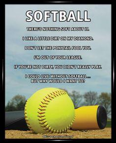 Softball Sky 8x10 Sport Poster Print Inspirational Softball