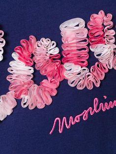Shop Love Moschino logo print T-shirt.