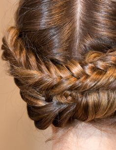 Hairstyle Trends: Fall/Winter 2013-2014 Braids, Waves and Ponytails - Fishtail Braid Christian Siriano