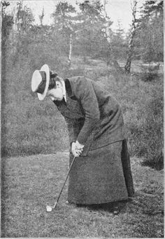 Love this picture, of early #golf for #ladies we do not do this do we,,,,? ? ?