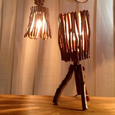 Table or Pendant Lamp Jequi Wood Lighting Design by DoisCapelistas