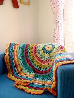 Crochet Circle Blanket - Tropical