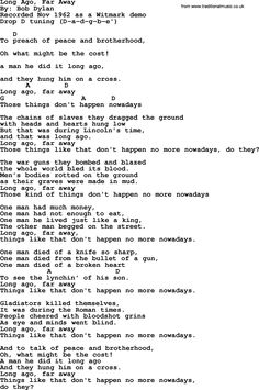 bob dylan all songs lyrics pdf