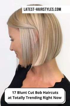 Looking for hairstyles perfect for oval, square, or heart-shaped faces? Latest-Hairstyles has 14 popular blunt bob haircuts. Just click the image to see all. Photo credit: Instagram (Photo credit IG @christinagarciasalon) Blunt Bob Haircuts, Blonde Hair Shades, Blunt Cuts, Latest Hairstyles, Face Shapes, Short Hair Cuts, Photo Credit, Faces, Popular