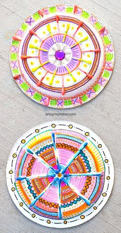 Paper Plate Madala Q-tip Craft