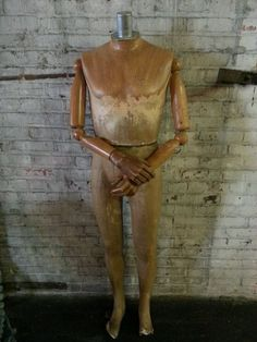 Vintage Male Mannequin Form With Articulated Arms