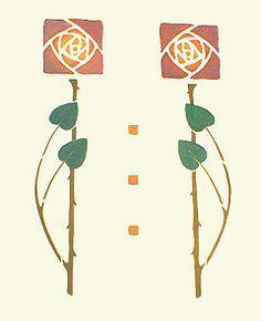 Stencilled Rose Bedspread