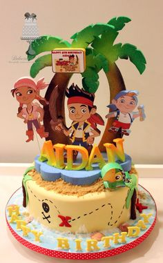 Jake And The Neverland Pirates Birthday Cake Pirate Toppers