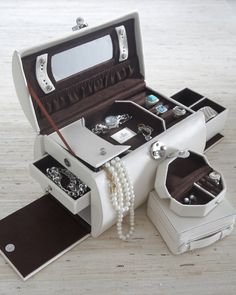 Multiple Compartments Jewelry Case