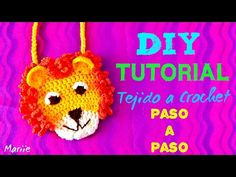 LEON !!! ... Tejido a Crochet ... Bolsita !! - YouTube Crochet Lion, Knit Crochet, Crochet Hats, Crotchet Braids, Crochet Videos, Baby Knitting, Lions, Hair Clips, Crochet Necklace