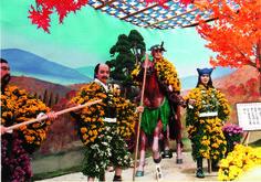 Le kiku ningyō e i #crisantemi in #Oriente #japan #chrysanthemum #crisantemo #arte #legend #leggenda #mitologia #story #history #storia #mythology #samurai #soldiers #soldati #giapponesi #japanese