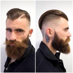 The top short hairstyles for men for the year 2018 are eye-catching and somewhat sophisticated. Today the short mens hairstyles have become particularly. Hairstyles Haircuts, Haircuts For Men, Cool Hairstyles, Great Beards, Awesome Beards, Hair And Beard Styles, Curly Hair Styles, Pelo Popular, Barbers Cut