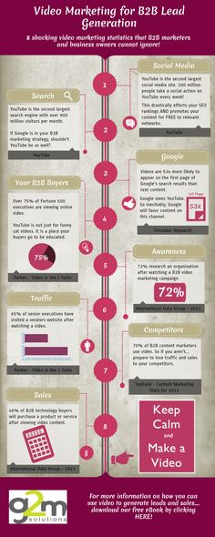 Video Stats For B2B Marketers #Infographic