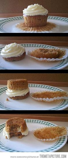 I BEEN EATING CUPCAKES WRONG MY WHOLE LIFE