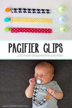 51 Things to Sew for Baby - DIY Pacifier Clips - Cool Gifts For Baby, Easy Things To Sew And Sell, Quick Things To Sew For Baby, Easy Baby Sewing Projects For Beginners, Baby Items To Sew And Sell http://diyjoy.com/sewing-projects-for-baby