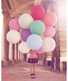 A bouquet of over-sized balloons