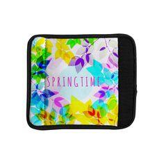 Kess InHouse Sreetama Ray 'Seasons Springtime' Rainbow Leaves Luggage Handle Wrap