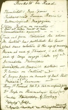Charles Darwin's pocket reading list.