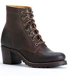Veronica Combat Block Heel Boots FJolNz