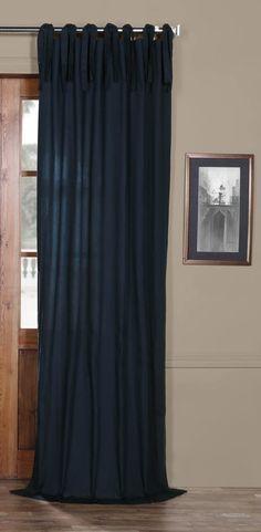 Anacari Solid Tab Top Single Curtain Panel