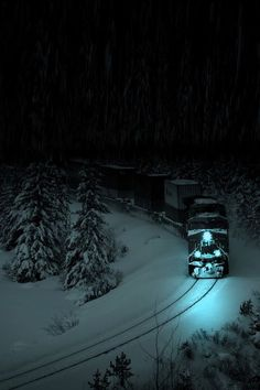 Snow Train, Alberta, Canada