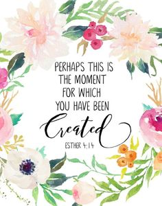 Perhaps this Is The Moment Printable Christian Wall Art