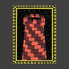 """THE STRONG TOWER"" - paint markers on paper . . . . . . .  #illustration #poscamarkers #romanianillustration #amramtoma #handmade #drawing #sketck #artofinstagran #art #dailypost #inspiration #graphic #graphicdesign #bruttsubmission"