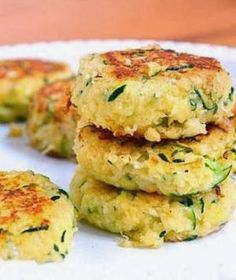 Healthy zucchini cakes. These are so good. another way to use the bumper crop of zucchini.