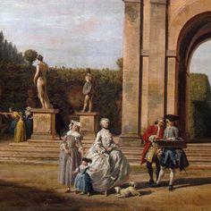 View of the Villa Ludovisi Park in Rome. By Claude Joseph Vernet.