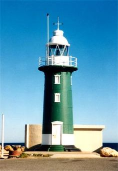 South Mole Light house in Fremantle Harbor Western Australia location 32 03.4S and 115 43.9E