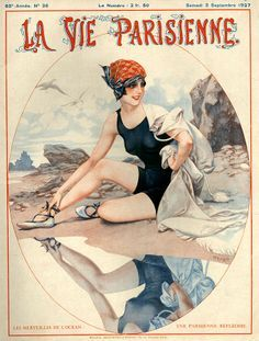 vintage vouge swimming suit illustration posters - Google Search