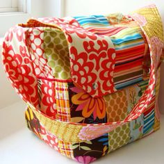Diaper Bag and Changing Pad Set Custom made by WatermelonWishes Baby Diper Bags, Cute Diaper Bags, Sewing Crafts, Sewing Projects, Craft Projects, Amy Butler Fabric, Fabric Pictures, Fabric Remnants, Patchwork Bags