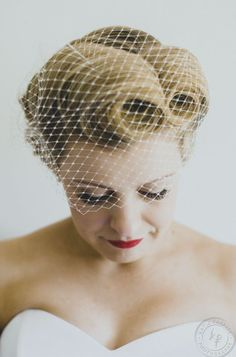 Fifties Victory Rolls - Wedding Hair Style