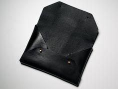 Leather Envelope Clutch - Vansh - 1