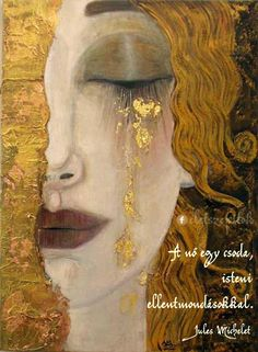 For clarity, this painting is often attributed to Klimt, but was not painted by him. This painting, 'Freya's Tears' was painted by French artist Anne-Marie Zilberman in the style of Klimt. Gustav Klimt, Art Klimt, Art Amour, Ouvrages D'art, Fine Art, Art Design, Interior Design, Oeuvre D'art, Art History