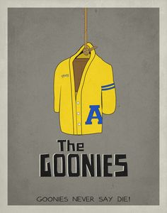 The Goonies Inspired Minimalist Movie Poster by EntropyTradingCo, $15.00