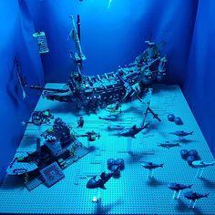 Under the sea!  Going to be adding some more elements to this area in the near future. - - #Lego #customlego #instatoy #legomoc #instalego #legostagram #sea #toystagram #minifig #legoaddict #pirates #legocreator #legocollection #legoland #bricknetwork #lego365 #brick #legofigures #afol #legodaily #legocity #legofan #shark #legomovie #toyphotography #brickinsider #legophotography #jordbricks #sea #caribbean