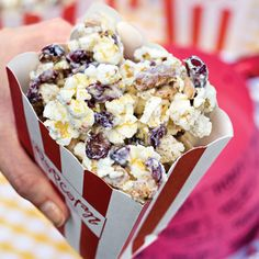 This would be cool for a movie night!  http://www.myrecipes.com/recipe/gold-dusted-white-chocolate-popcorn-10000001634675/