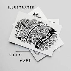 City Map Prints. City Original illustration. City Guide Map print. Maps. London, Copenhagen, Edinburgh and Oslo Maps by Sira Lobo
