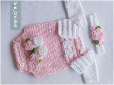 Crochet Onesie, Crochet Baby Cardigan, Baby Girl Crochet, Crochet Baby Clothes, Crochet For Kids, Free Crochet, Knit Crochet, Crochet Hats, Vestidos Bebe Crochet