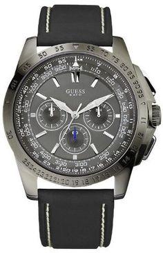 GUESS U14501G2 Euro-Cool Waterpro Chronograph Watch GUESS. $105.73. Gunmetal-tone. Mens watch. Water resistant. 10 year warranty. Silicone strap