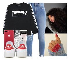 """February 10"" by myajennings ❤ liked on Polyvore featuring Victoria's Secret, Michael Kors and adidas Originals"