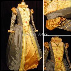 Envío gratuito! R-454 por encargo 1860 S guerra Civil Gothic lolita vestido de boda / vestidos Victorian / vestido renacentista trajes de época(China (Mainland))