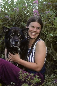 Susan Butcher and her dog Granite - Susan Howlet Butcher was an American dog musher, noteworthy as the second woman to win the Iditarod Trail Sled Dog Race in 1986, the second four-time winner in 1990, and the first to win four out of five sequential years. In 2005, she demonstrated how she trained her dogs to us. Unfortunately, she died August 5, 2006 at the age of 51.