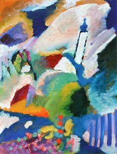 Wsili Kandinskij - Murnau with Church I (1910)
