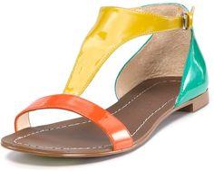 Boutique 9 Sandals Piraya Color Block in Orange (orange multi)