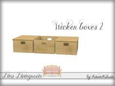 ArwenKaboom's Lina Livingroom - Wicker Boxes 2