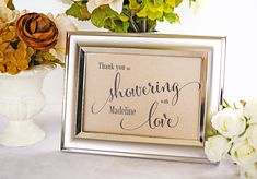 Favor Table Sign Bridal Shower Decoration Baby Shower by I Do Tags | Size 5x7