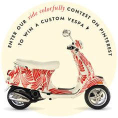 #ridecolorfully. I need a Kate Spade Vespa scooter to save gas money this summer!
