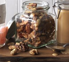 Sweet & spicy nuts. Roast almonds, Brazil nuts and cashews with spiced flavours then pack up into bags as a homemade gift.